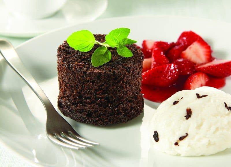 Chocolate Volcano Dessert