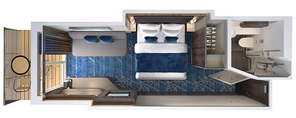 Balcony Floor Plan on Norwegian Encore