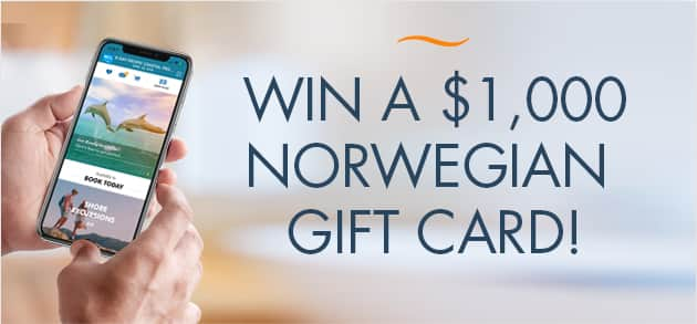 norwegian gift card 1000