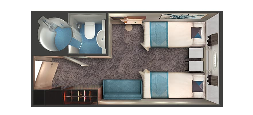 Floor plan Oceanview with Large Porthole