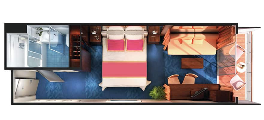 Floor plan Sail Away Mini-Suite