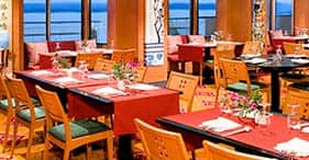 Norwegian Pearl cruise ship Lotus Garden Asian Restaurant with Pan Asian cuisine