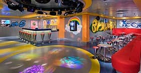 Norwegian Pearl cruise ship Metro Center for teens, designed to look like the Ne