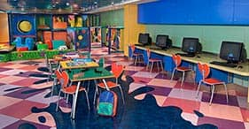 Pride of America cruise ship Rascal's Kid's Club with jungle gym and movie room.