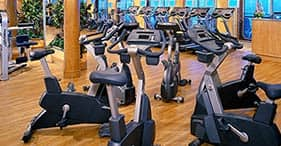 Pride of America cruise ship Santa Fe Fitness Center with classes from 6am to 11
