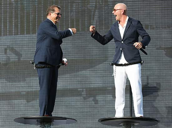 Pitbull Christens Norwegian Escape With Larger Than Life Performance