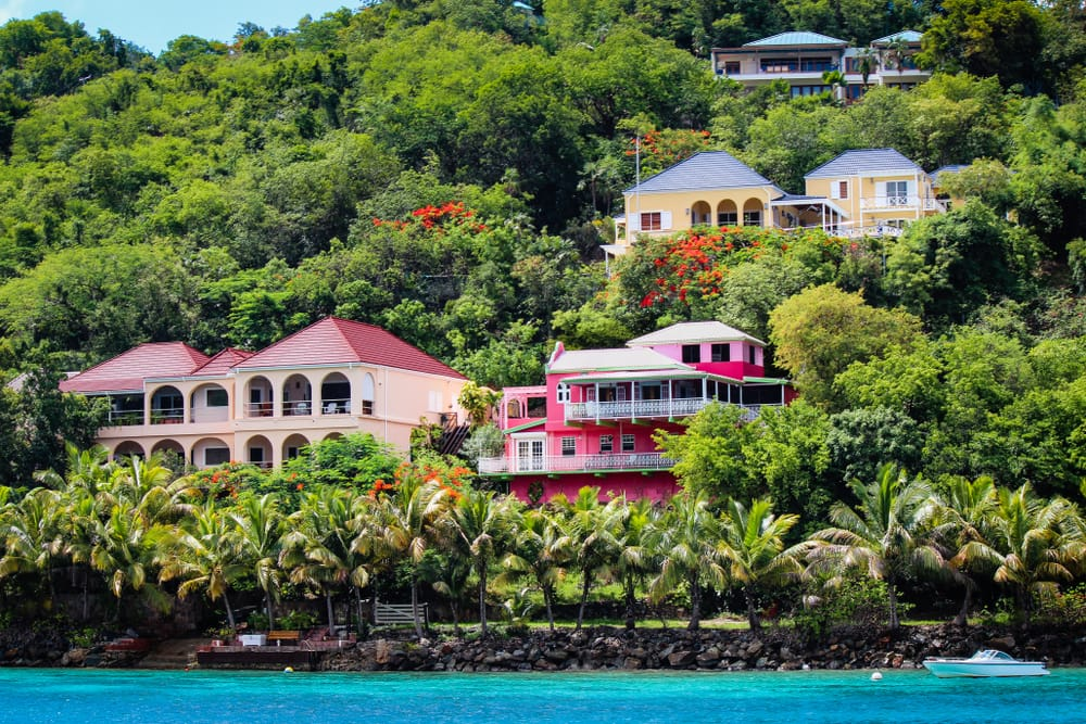 Colorful Houses in Tortola