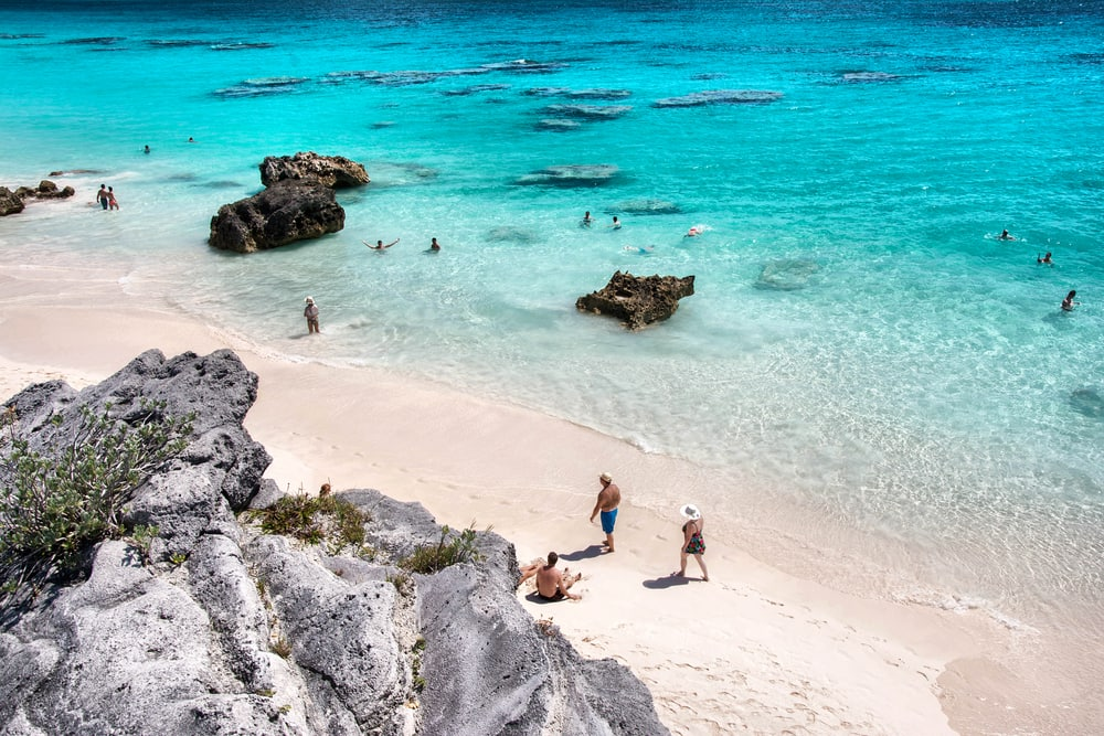 Horseshoe Bay in Hamilton City, Bermuda