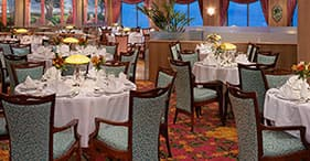 Norwegian Sky cruise ship Palace Main Dining Room.