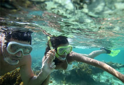 snorkelling in the caribbean