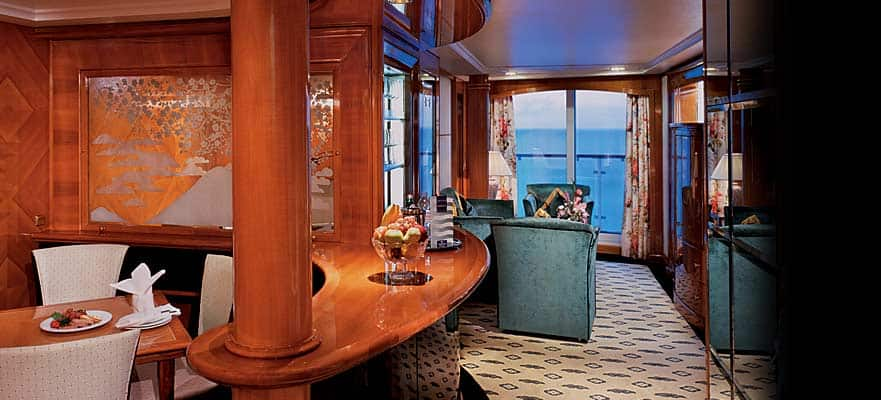 Aft-Facing Owner's Suite with Large Balcony