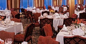 Norwegian Spirit cruise ship The Garden Room Main Dining Room with 5 course meal