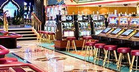 Norwegian Spirit cruise ship Maharajah's Casino with a variety of games.