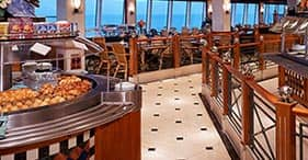 Norwegian Spirit cruise ship Raffles Court & Terrace buffet-style with indoor an