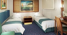 Norwegian Spirit cruise ship Inside Stateroom with two beds.
