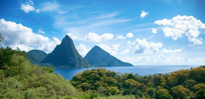 Witness the magnificence of Pitons in Saint Lucia