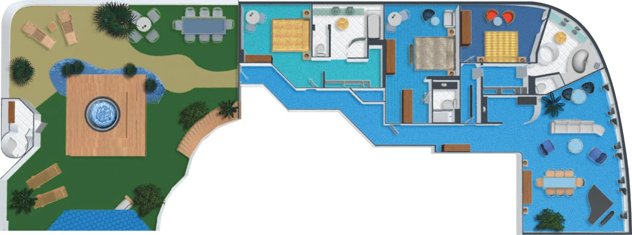 Floor plan 3-Bedroom Garden Villa