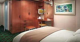 Norwegian Sun cruise ship Superior Inside Stateroom with two beds and sitting ar