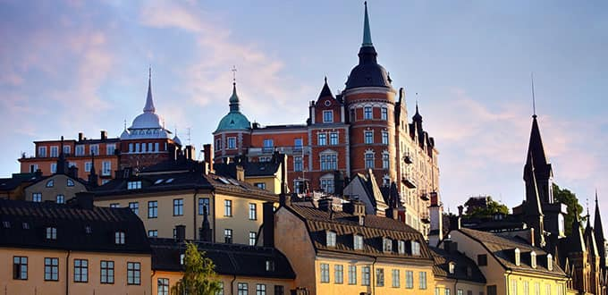 Enter a world of cobblestone and color in Stockholm.