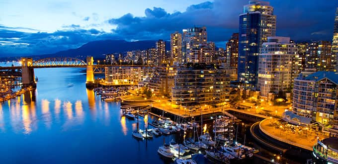 The rich, blue Pacific reflects the shimmering beauty of Vancouver.