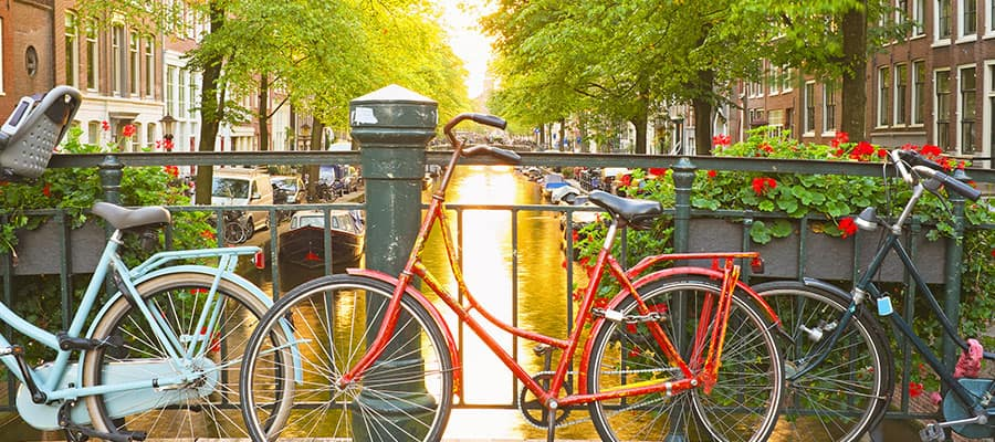 Picturesque Amsterdam on a Europe Cruise