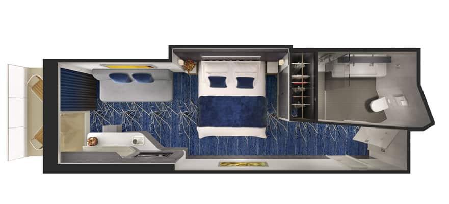 Floor plan Spa Mini-Suite with Balcony