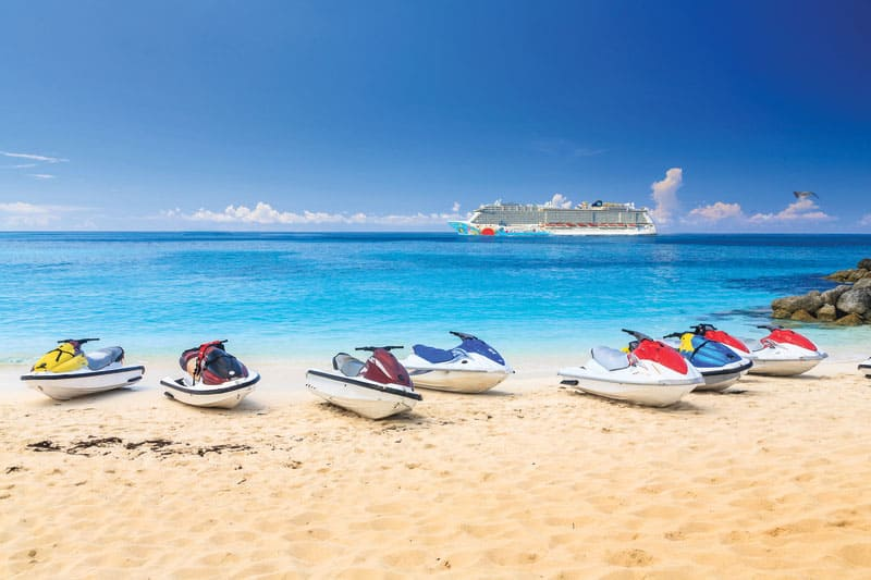 Jet Ski in The Bahamas on a Cruise